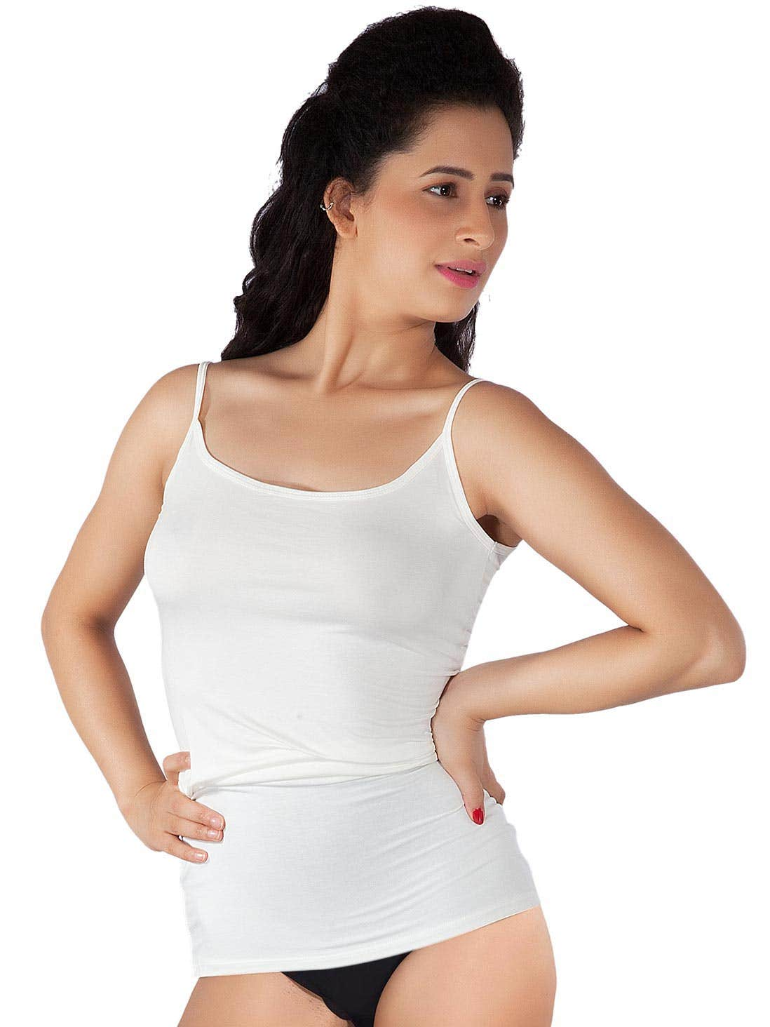 a253b6eaa1f32 Shyle White Ultra Soft Camisole